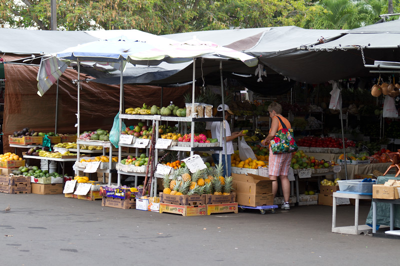 Farmers market, the fruit smelled amazing