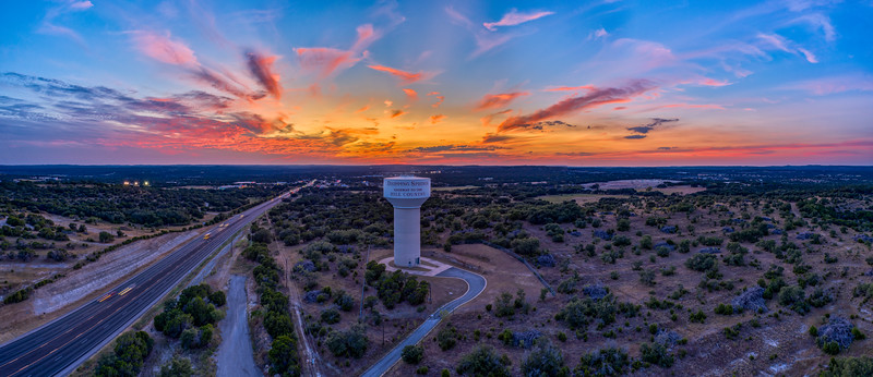 Sunset over Dripping Springs, TX - Wed, Sep 4, 2019