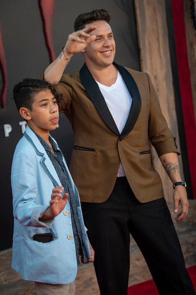 "WESTWOOD, CA - AUGUST 26: Kaden Michael Alejandro and Kevin Alejandro attend the Premiere Of Warner Bros. Pictures' ""It Chapter Two"" at Regency Village Theatre on Monday, August 26, 2019 in Westwood, California. (Photo by Tom Sorensen/Moovieboy Pictures)"