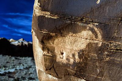 Mastodon petroglyph