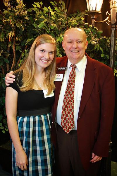 Dr. Bob Morgan, Amanda Jefferies. Scholarship Luncheon at Gardner-Webb University.