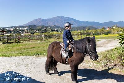 Olivia - Horse Riding, Estepona 2017 - colour