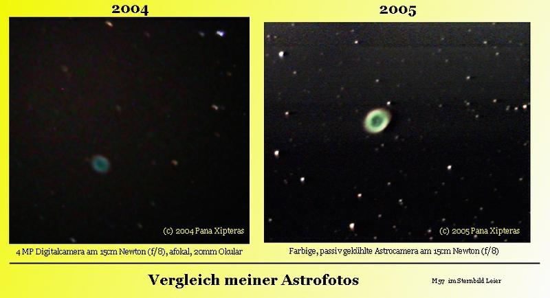 2005 MAI: Der Neutronenstern von M57 ist sichtbar