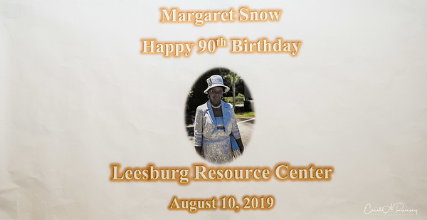 2019 Margaret Snow's Birthday