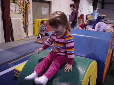 March 5, 2005 photos (Hailey has fun with the Yellin Grandparents at Gymnastics and the Children's Museum.)