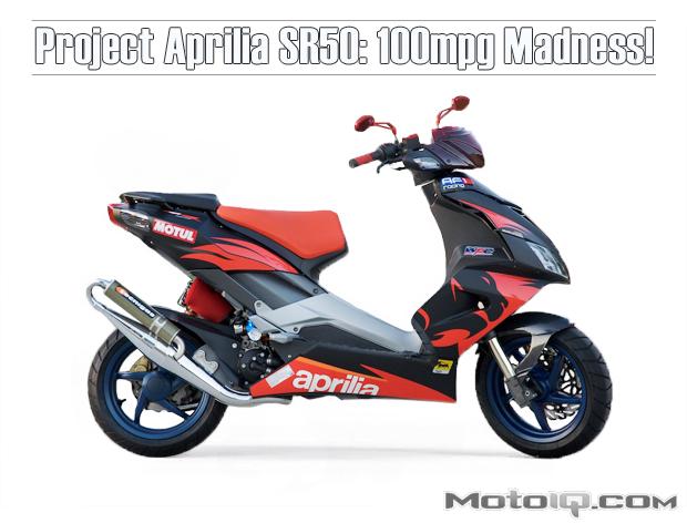 Project Aprilia SR50 more power!