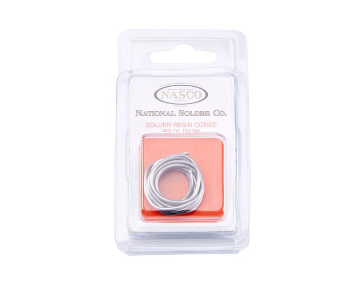 NASCO, National Solder Co, Solder Resin Cored, 40% Tin, 15g
