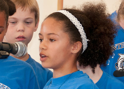 The Minter Creek Elementary Choir, led by Paula DeMoss