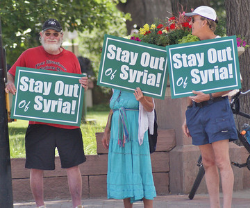 """Stay Out of Syria"" Demonstration - Boulder Colorado 7/20/13"