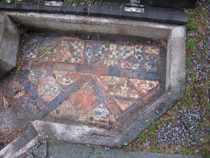 Part of original tile floor of Galstonbury Abbey.