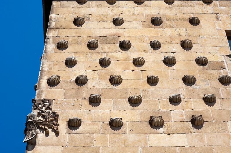 House of the Shells facade, town of Salamanca, autonomous community of Castilla and Leon, Spain