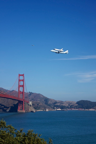 The Space Shuttle Endeavor's final victory lap over the San Francisco Bay Area
