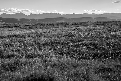 Black and White of the Gore Range from Big Park, CO