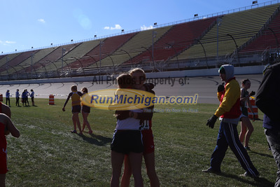 Post Race/Chute, D2 Girls - 2014 MHSAA LP XC Finals