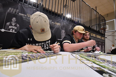 2019-02-07 BB Baseball Schedule Signing at Basketball Game