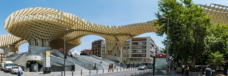 Metropol Parasol, largest wooden structure in world