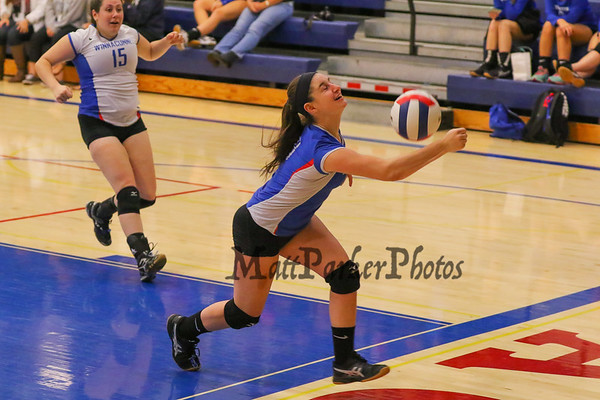 2015-10-9 WHS Girls Volleyball vs Pinkerton