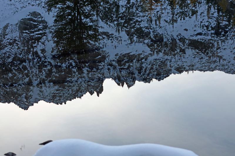 Mountain reflections on a very calm Horseshoe Lake
