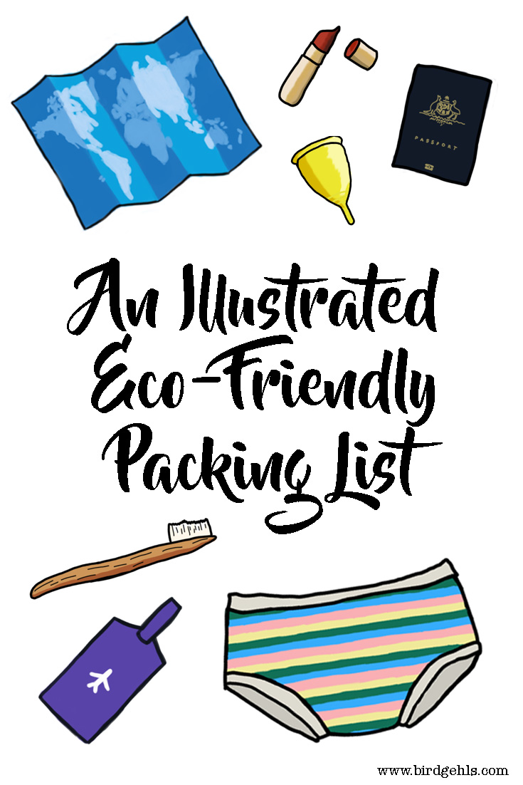 Here are some eco-friendly items you should pack the next time you go travelling, from clothing, to toiletries and everything in-between. /Sustainable Travel / Packing Lists / Plastic-free Travel / Green Traveller / Eco-Friendly /