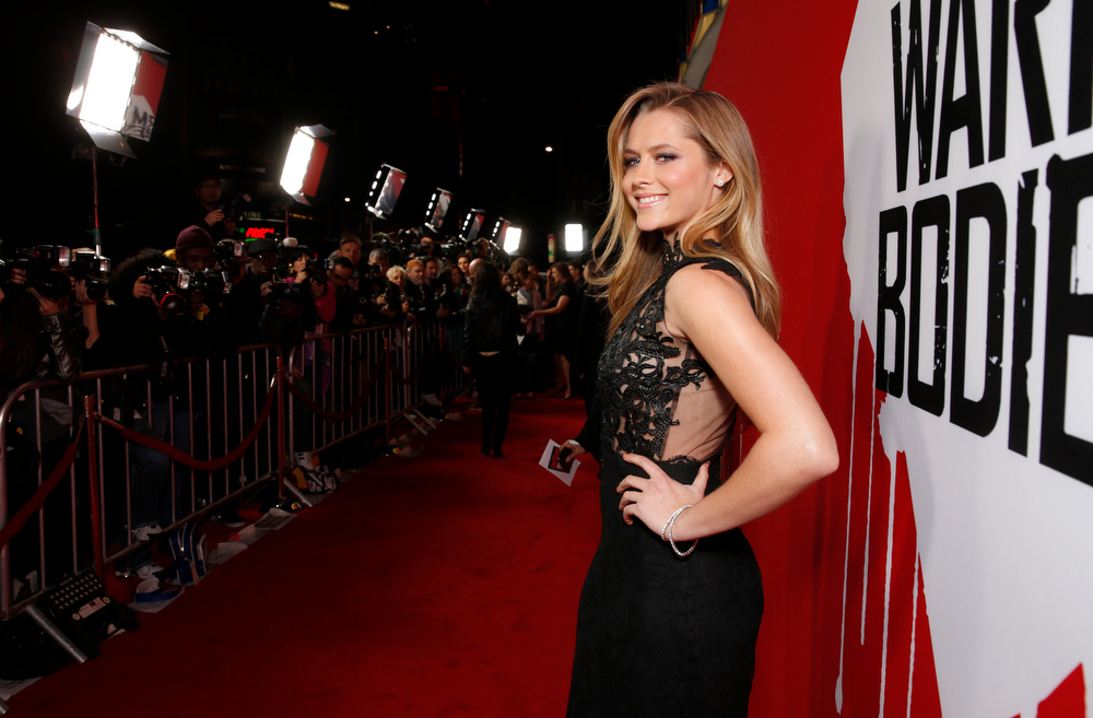 "Description of . Teresa Palmer attends the LA Premiere of ""Warm Bodies\"" at the ArcLight Cinerama Dome on Tuesday, Jan. 29, 2013 in Los Angeles, California. (Photo by Todd Williamson/Invision for The Hollywood Reporter/AP Images)"