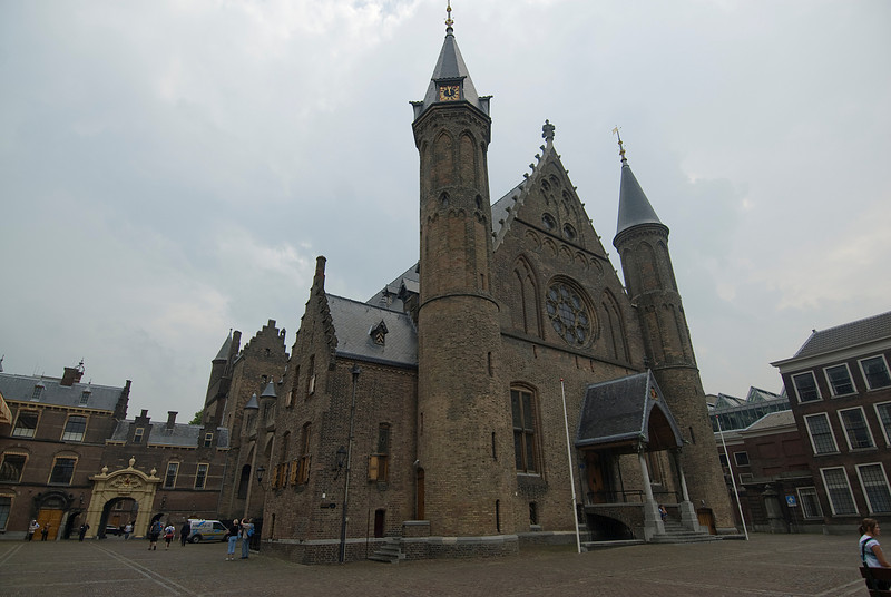 Side profile of The Ridderzaal in The Hague, Netherlands