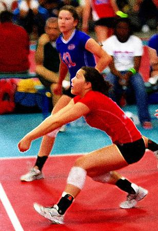 Volleyball at Spike Sport 3-29-08 Girls 16 tournament