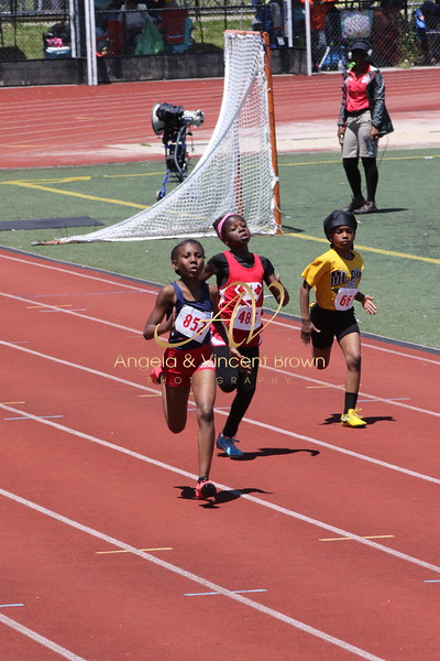 Champs: 9-10 Girls 100M Trials