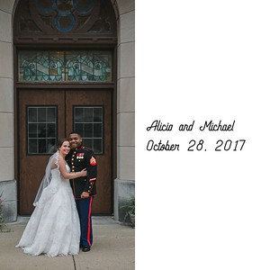 Alicia and Michael: Album Proof Option 2