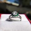 1.30ctw Old European Cut Diamond Emerald Target Ring 12