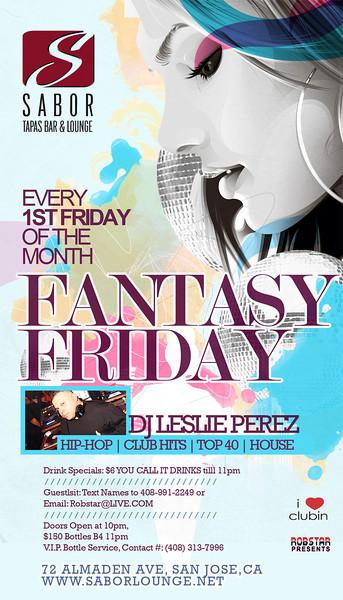 Fantasy Friday @ Sabor Tapas Bar & Lounge 12.2.11