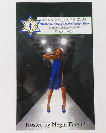Iranian Jewish club 7th Annual Spring Benefit Fashion Show 4/26/15