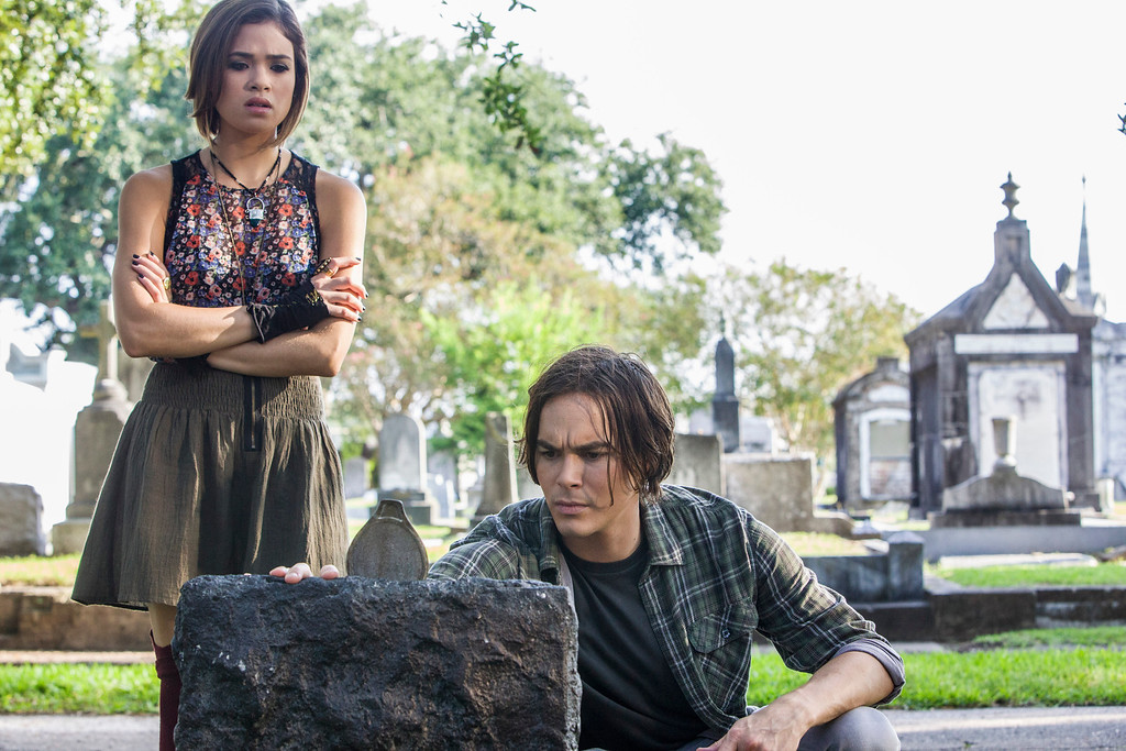 """. RAVENSWOOD - \""""Pilot\"""" - After opting to stay in Ravenswood to help out new pal Miranda, Caleb begins to rethink his decision, especially after he meets Miranda\'s cold and unwelcoming uncle Raymond (Steven Cabral). Caleb also has some unpleasant interactions with local resident Luke (Brett Dier), who is struggling to deal with a recent family tragedy and its ensuing scandal, which has also swept up his twin sister Olivia (Merritt Patterson) in the series premiere of \""""Ravenswood,\"""" airing Tuesday, October 22nd (9:00 - 10:00 PM ET/PT). (ABC FAMILY/Skip Bolen)"""