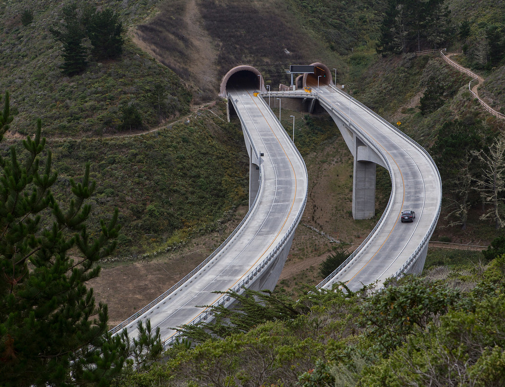 . The north end of the Devils Slide Tunnels will intersect with the old portion of Highway 1 that will be turned into a public multi-use nonmotorized trail, featuring dramatic views of the San Mateo County coast. (John Green/Bay Area News Group)