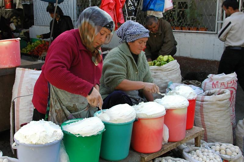 Kurut (Yogurt Balls) - Osh Market, Kyrgyzstan