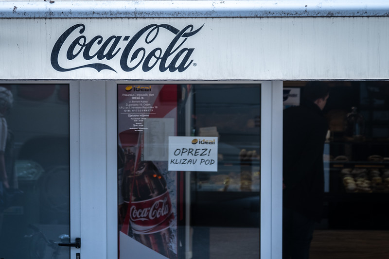 Eastern Europe dearly loves their Coca-Cola!  It's new to them, it wasn't allowed throughout the communism years.