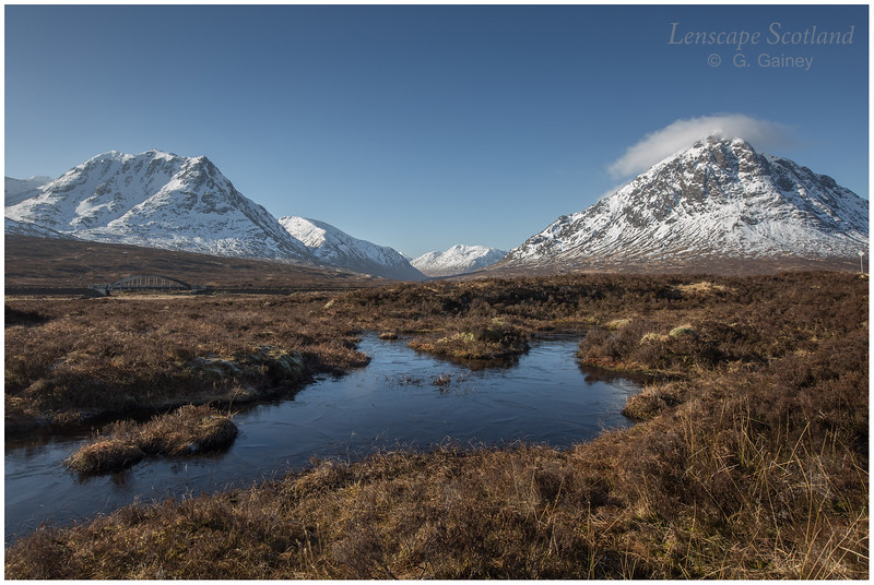 Glen Etive mountains from the West Highland Way, winter