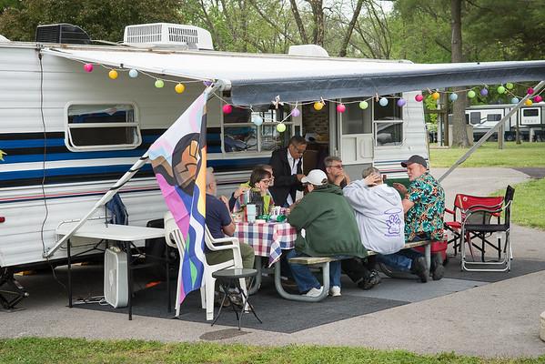 Camping at Cole's Creek at Lake Carlyle