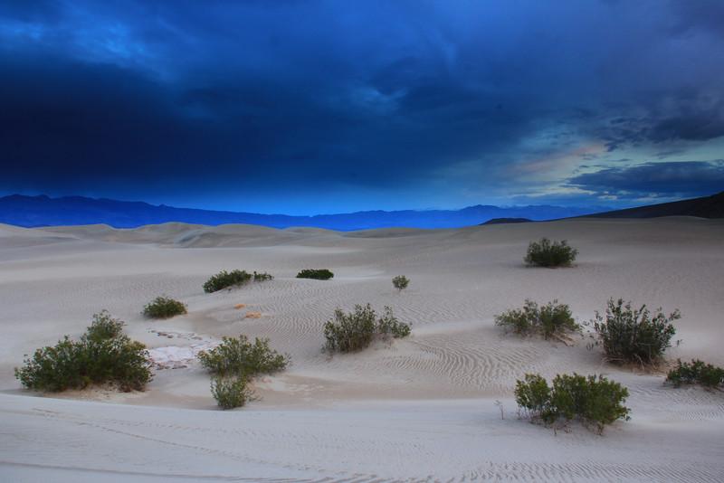 Twilight on Mesquite Sand Dunes