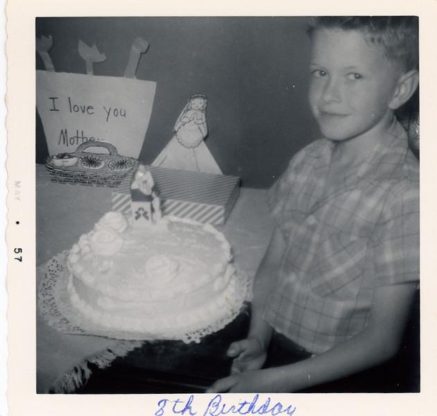 Circa:1957, Jay's 8th birthday