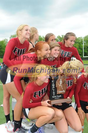 D2 Girls Team Runner Up Awards - 2013 MHSAA LP Track Finals