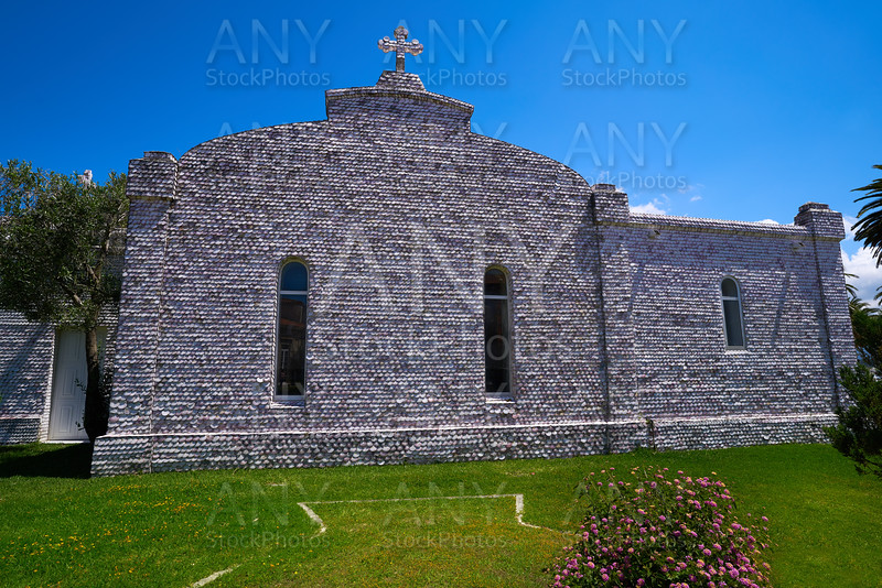 La toja island Toxa Chapel made of sea shells