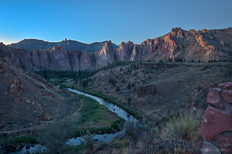 Twilight - Smith Rock state park in central Oregon