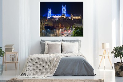 Cathedral prints on wall