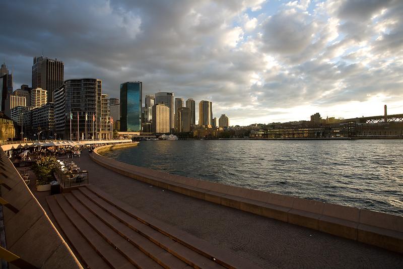 Skyline von Sydney im Abendlicht