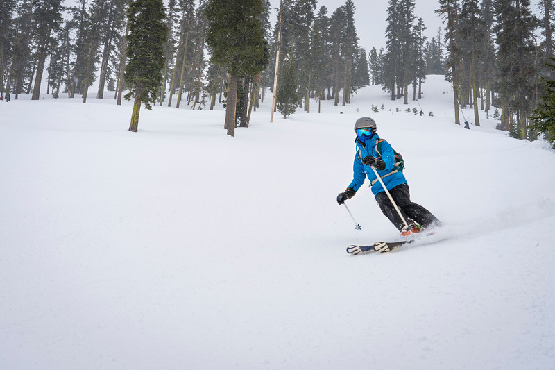female skier at Northstar California
