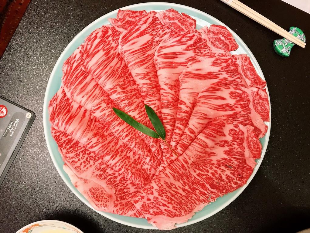 Wagyu beef at Ningyocho Imahan, Shinjuku