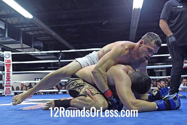 Bout  #11: Pro MMA, Roger Kupfer, Red Wrist Wraps, 184 Lbs -vs- Jon Cruz, Blue Wrist Wraps, 184 Lbs