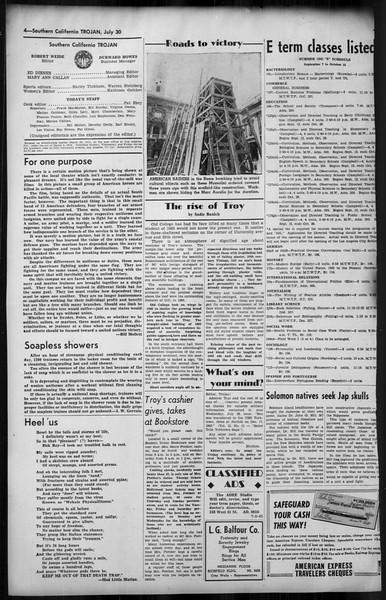 Southern California Trojan, Vol. 35, No. 12, July 30, 1943