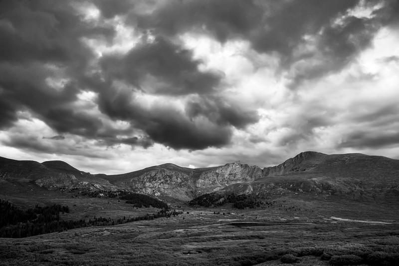 Mount Bierstadt Black and White