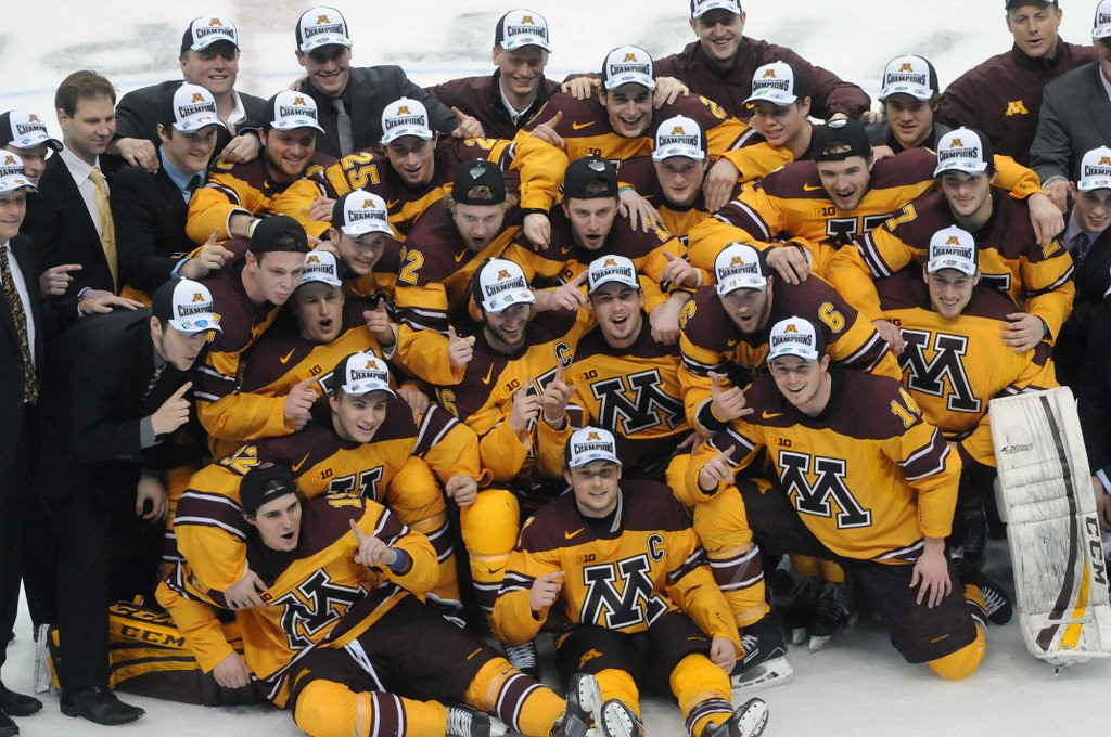 ". <p>7. (tie) FROZEN FOUR <p>Congrats on making the big dance, Gophers! Now sit around and wait a couple of weeks. (unranked) <p><b><a href=\'http://www.twincities.com/sports/ci_25454731/ncaa-hockey-gophers-roll-into-frozen-four-shutout\' target=""_blank\""> HUH?</a></b> <p>    (Pioneer Press: Scott Takushi)"